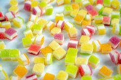 Sweet jelly coated with sugar. stock photo