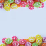 Sweet colorful jelly with sugar Royalty Free Stock Photos