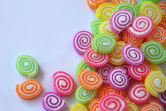 Sweet colorful jelly with sugar Royalty Free Stock Image