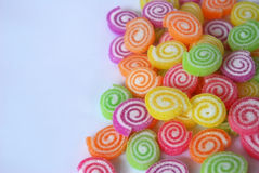Sweet colorful jelly with sugar Stock Photography