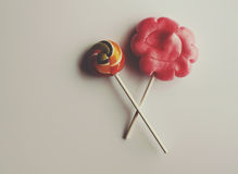Sweet colorful lollipops Royalty Free Stock Image