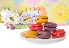 Sweet colorful macaron Stock Photos