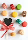 Sweet colorful macaroon cookies Stock Photos
