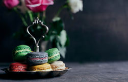 Sweet colorful macaroons Royalty Free Stock Image