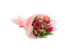 Sweet colorful small bouquet pink roses Royalty Free Stock Image