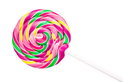 Sweet Colorful Spiral Lollipop Royalty Free Stock Photography