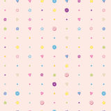 Sweet colorful sugar candy vector seamless Stock Photos