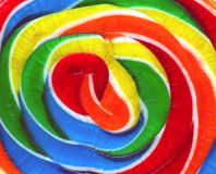 Sweet Colors. A close-up of a colorful lollipop candy Stock Photo
