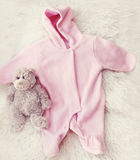 Sweet colors, baby comfortable clothes Royalty Free Stock Photography
