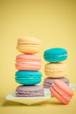 Sweet and colourful french macaroons Royalty Free Stock Photos