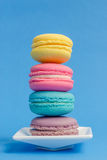 Sweet and colourful french macaroons Stock Photos