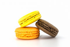 Sweet and colourful french macaroons, Dessert. Stock Photos