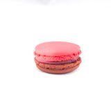 Sweet and colourful french macaroons isolated on white  backgrou Stock Photo