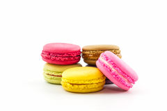 Sweet and colourful french macaroons or macaron, Dessert. Stock Photo