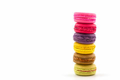 Sweet and colourful french macaroons or macaron, Dessert. Stock Photos