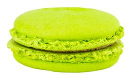 Sweet and colourful french macaroons or macaron on white backgro. Und, Dessert Royalty Free Stock Photography