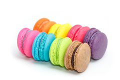 Sweet and colourful french macaroons or macaron Stock Image