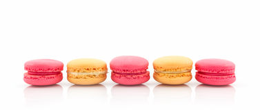 Sweet and colourful french macaroons or macaron. Stock Image