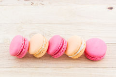 Sweet and colourful french macaroons or macaron. Royalty Free Stock Images