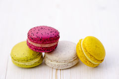 Sweet and colourful french macaroons Stock Photography