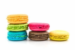 Sweet and colourful french macaroons. Stock Image