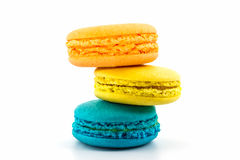 Sweet and colourful french macaroons. Royalty Free Stock Image