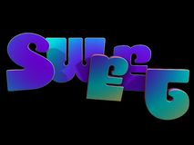 Sweet Concept - 3D Font Royalty Free Stock Photography