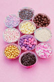 Sweet confectionery Stock Images