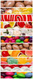 Sweet Confectionery Background Collage. Delicious Sweets Background Collage With Candies, Cookies And Other Confectionery Stock Photo