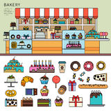 Sweet confectionery in the bakery Royalty Free Stock Photos