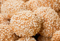 Sweet cookie with sesame Stock Photography