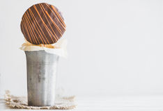 Sweet cookie on the stick Stock Images
