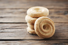 Sweet cookie on the vintage table Royalty Free Stock Photo