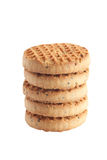 Sweet cookies 3. Stack from sweet round cookies isolated on white background Royalty Free Stock Photo