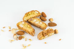Sweet cookies with almond Stock Photos