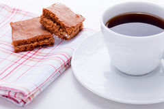 Sweet cookies biscuit with black coffee Royalty Free Stock Images
