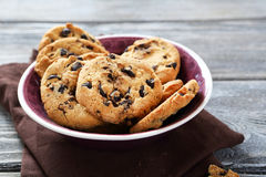 Sweet cookies in bowl Royalty Free Stock Photos