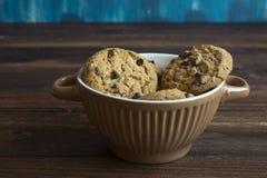 Sweet cookies in bowl, food Stock Images
