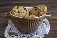 Sweet cookies in bowl, food Stock Photography