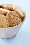 Sweet cookies. In ceramic bowl stock photos