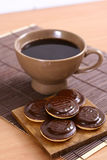 Sweet cookies with coffee Royalty Free Stock Photo