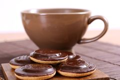 Sweet cookies with coffee Royalty Free Stock Photos