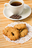 Sweet cookies and coffee and chocolate. Stock Photo