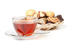 Sweet cookies and cup of tea Stock Photo