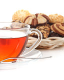 Sweet cookies and cup of tea Royalty Free Stock Photography