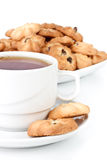 Sweet cookies and cup of tea Royalty Free Stock Image