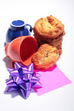Sweet cookies with cups Stock Photo