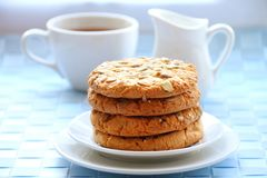 Sweet cookies with different kinds of seeds Royalty Free Stock Photos
