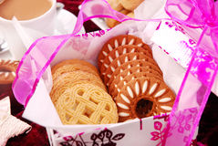 Sweet cookies in gift box Stock Image