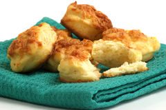 sweet cookies on a green cloth Stock Photography
